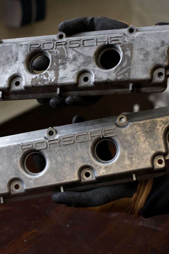 Nussschalenstrahlen Porsche Teile