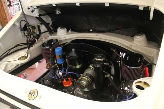 Hochzeit Porsche 912 - Einbau Antriebsstrang