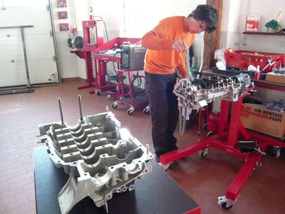 Überholung Porsche 930 Turbo Motor